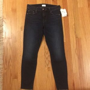 Mother looker ankle fray skinny jean NWT